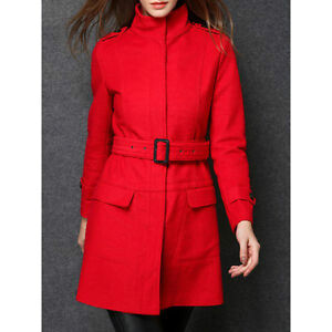 BNWT Red Winter Wool Blend Belted Coat XL (10-12?) Kitchener / Waterloo Kitchener Area image 1