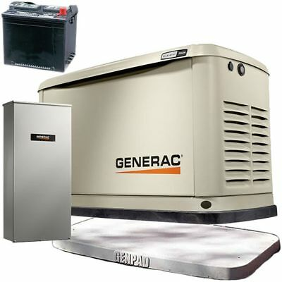 Generac Guardiantrade 20kw Standby Generator System 200a Service Disc. A...