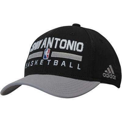 SAN ANTONIO SPURS ADIDAS NBA BLACK STRUCTURED STRAPBACK ADJUSTABLE HAT CAP $24