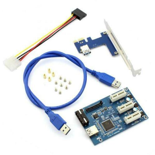 Riser 1 To 3-Port PCI Express x1 USB 3.0 External Multiplier