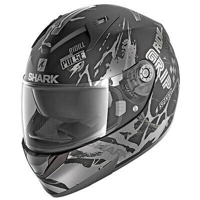 SHARK Motorcycle HELMET Full Face RIDILL Drift-R KAS HE0536E Matt Black Silver