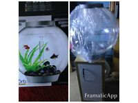 Biorb 60 litre with filter and gravel and standing unit