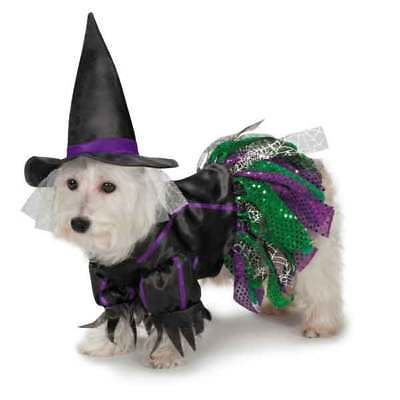 Zack and Zoey Scary Witch Dog Puppy Pet Costume Party Halloween w/hat Misc Sizes - Scary Dog Costumes