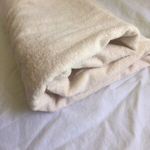 Organic looped terry towels
