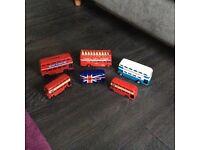 6 Die Cast London Buses
