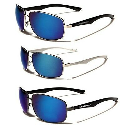 XL Size Arctic Blue Mens Sports Mirrored Small Aviator Sungl