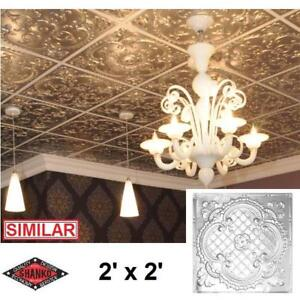 NEW SHANKO TIN STEEL CEILING TILE CH500 2 139585213 CHROME PLATED 2' x 2' LAY IN SUSPENDING CEILINGS TILE WALLS DECOR...
