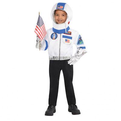 Karneval Gr. 110 Kostüm Astronaut Kosmonaut Fasching Kinder Jungen Raumfahrer ()