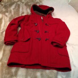 Girls Vertbaudet fleece lined duffle coat Age 12 Only worn few times As new