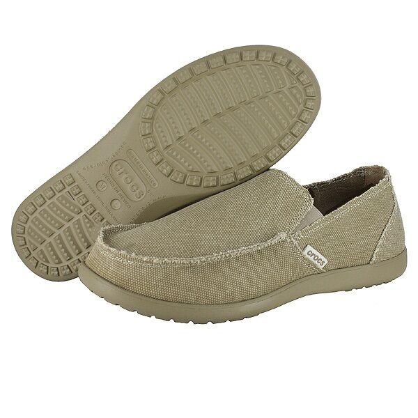 Crocs Santa Cruz Canvas Loafer Khaki Men  9, 10, 11, 12, 13, 14, 15  NWT