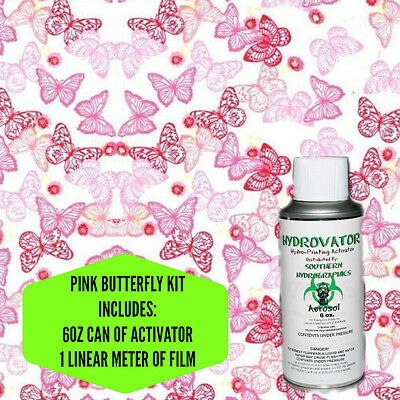 Hydrographic Film Water Transfer Hydro Dip 6oz. Activator Pink Butterfly Kit