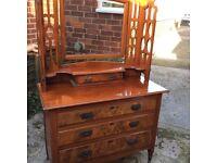 Victorian walnut dressing table