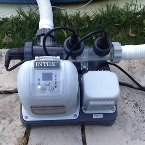 Intex Krystal Clear Salt Water System and pool pump filter