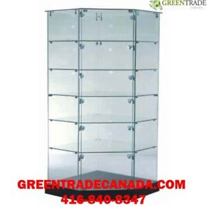Glass showcases and Tower Display showcases