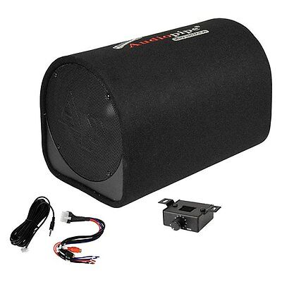 New 10  Powered Subwoofer Bass Tube Speaker Enclosure Cabinet Amplified Active