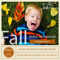 Fall Mini Sessions - Now Available