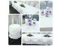 SALE NOW ON- Venue dressing/ Centrepieces / Chair covers/ Balloons/ Draping