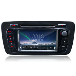 dvd player car gps radio sat nav stereo bluetooth for seat ibiza 2009 2013 new ebay. Black Bedroom Furniture Sets. Home Design Ideas