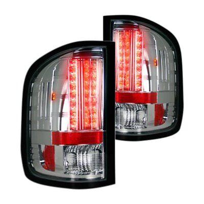 Recon Chrome LED Tail Lights for 07-13 GMC SIERRA 1500/2500/3500 Single Wheel