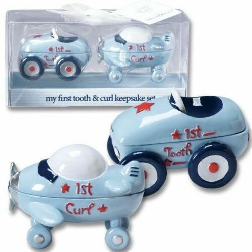 Little Racer First Tooth & Curl Baby Keepsake Set : New Baby Keepsake Gifts