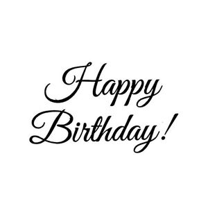 Happy Birthday UNMOUNTED rubber stamp #23