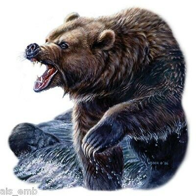 Grizzly Bear Heat Press Transfer For T Shirt Sweatshirt Tote Bag Fabric 227