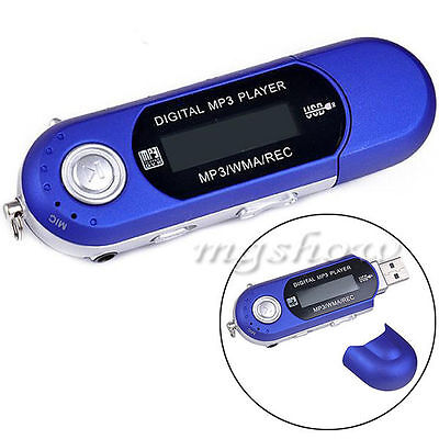 New 16GB Mp3 Wma Usb Music Player With Lcd Screen Fm Radio Voice Recorder