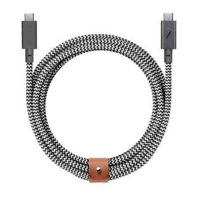 Native Union Cinturón Cable USB C A 2.4m Cable Trenzado Cebra S20...
