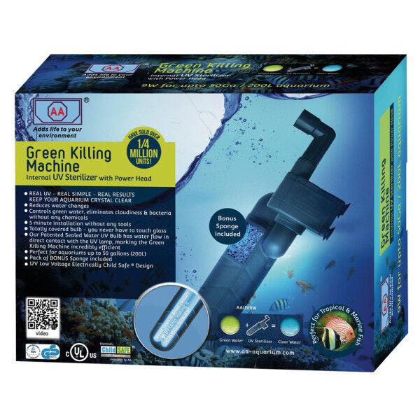 AA Aquarium Green-Killing Machine Internal UV Sterilizer fish tank up 106 gallon