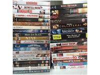 DVDs listed below £1 each selling for charity