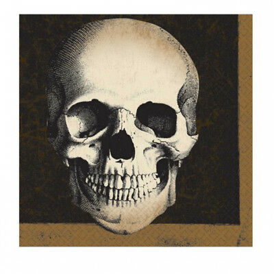 Totenkopf Boneyard Grusel Party Servietten 33 x 33 - Halloween Dekoration