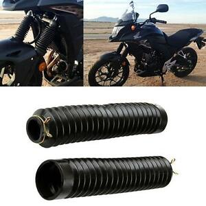 Motorcycle Fork Cover Gaiters Gators Boots Shock For Harley Yamaha Suzuki Honda