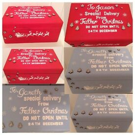 Personalised Wooden Christmas Eve boxes 🎄🎅🏽