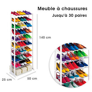 Meuble organisateur range chaussures 25 30 paires tag re - Meuble a chaussure 40 paires ...