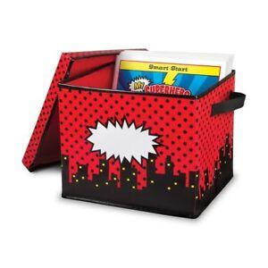 TCR 20769 Superhero Cityscape Storage Box Classroom Organization Station