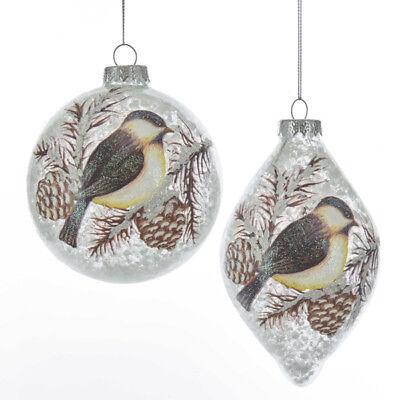Birds w/Pinecone Ball/Finial Ornament