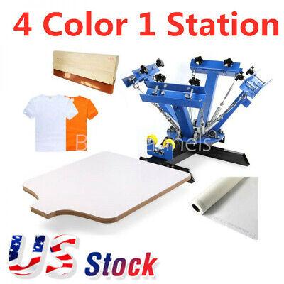 Usa - 4 Color 1 Station Screen Printing Press Machine Screening Pressing