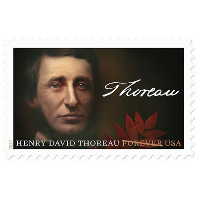 USPS New Henry David Thoreau pane of 20
