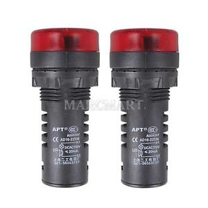 2pcs-AC-110V-22mm-Red-LED-Indicator-Signal-Light-with-Buzzer-Brightness-100Cd-m2