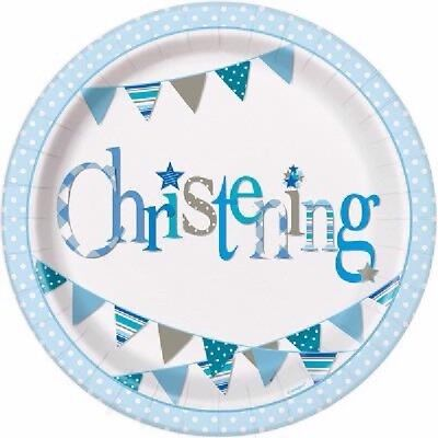 Christening Paper Plates (8 x 9