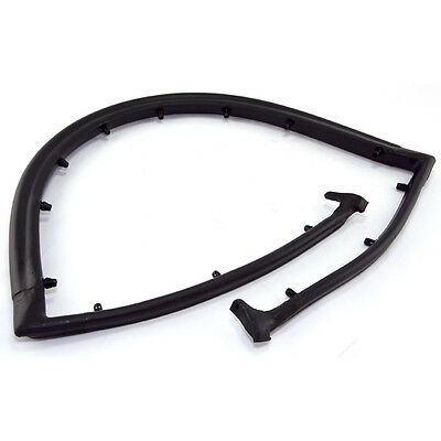 For Jeep CJ7 1976-1986 Make Auto Parts Manufacturing Front Driver and Passenger Side Rubber Set of 2 Door Outer Belt Lines For Jeep CJ5 1976-1983