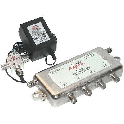 EAGLE ASPEN SHN24-KIT Signal Combiner/Amplified 4-Way Splitter for - Hdtv Signal Splitter
