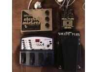 EHX, DOD, Morley, BK Butler guitar pedals