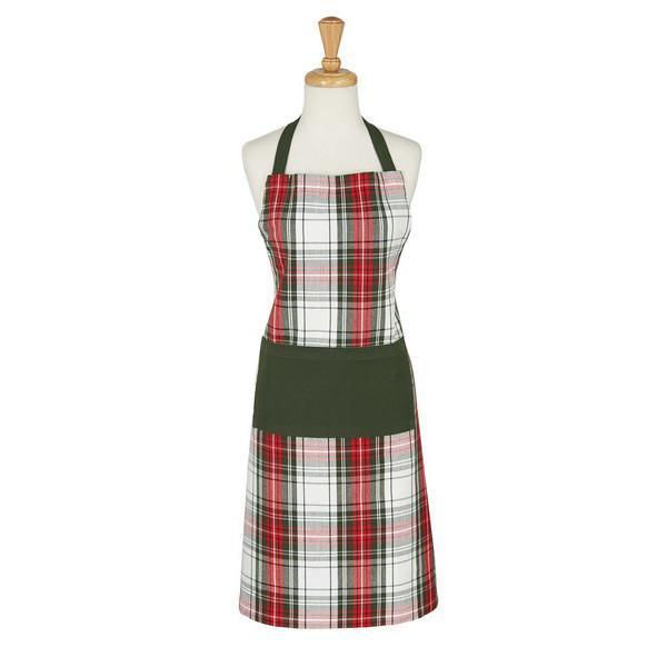 CHRISTMAS Chef's Apron -Cotton PLAID **CHEF'S APRON -by DII