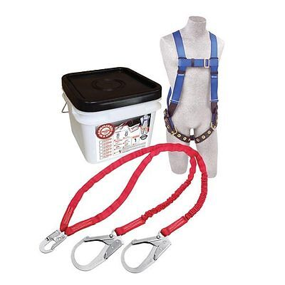 Protecta 2199817 Fall Protection Kit Includes Harness Double Rebar Hook Lanyard