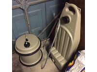 Good condition Waste Master with Bag and Water Barrel with handles.