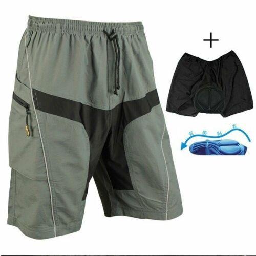 Santic Men Loose Bike Bicycle Shorts Detachable Padded MTB C