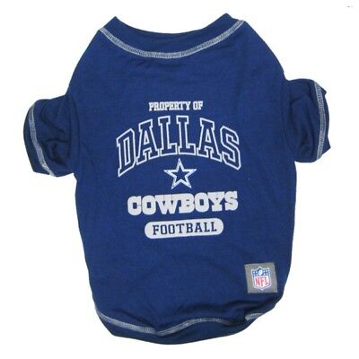 Dallas Cowboys Officially Licensed NFL Dog Pet Tee Shirt, Blue -