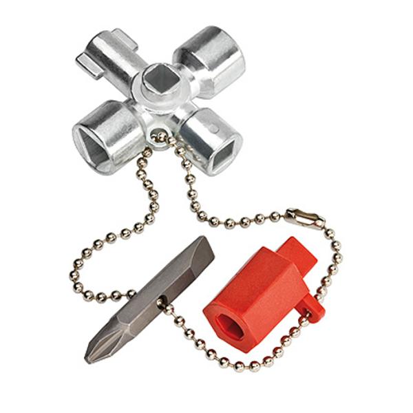Knipex Schaltschrank-Schlüssel Schaltschrank Absperrsysteme Zink-Druckguss