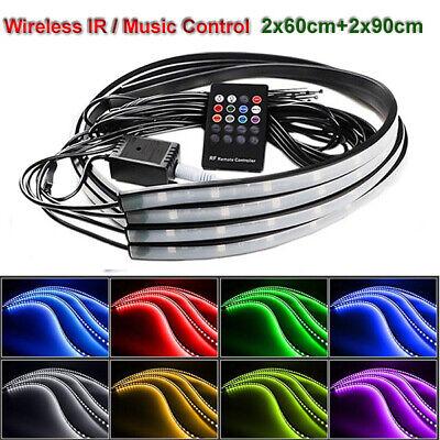 8 Color LED Strip Under Car Tube underglow Underbody System Neon Lights Kit